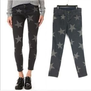 Stella McCartney star print skinny ankle jeans